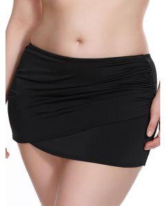 braga falda baño negra