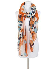 pañuelo estampado naranja