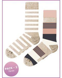 pack 2 calcetines estampados