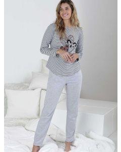 pijama mujer invierno gris