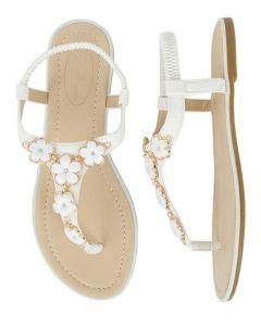 sandalia de flores