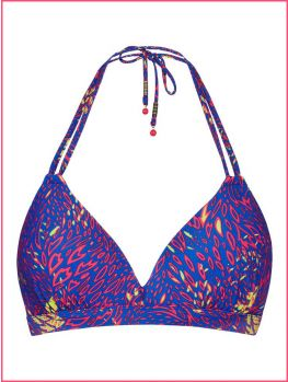 bikini triangular con espuma.