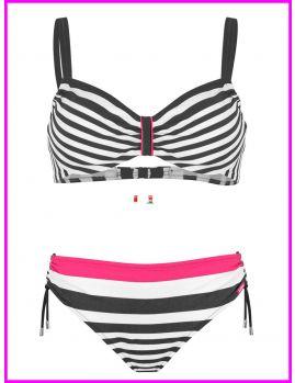 bikini marinero con aro y copas regulables