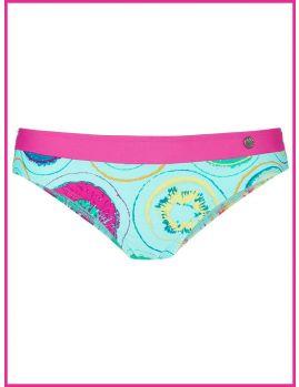braga bikini con banda rosa en contraste