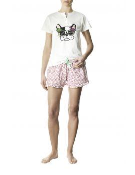 pijama corto mujer