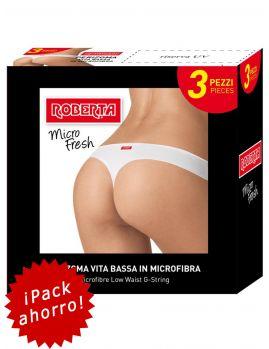 Tanga Pompea-Roberta Micro Fresh (Pack 3 uds.)